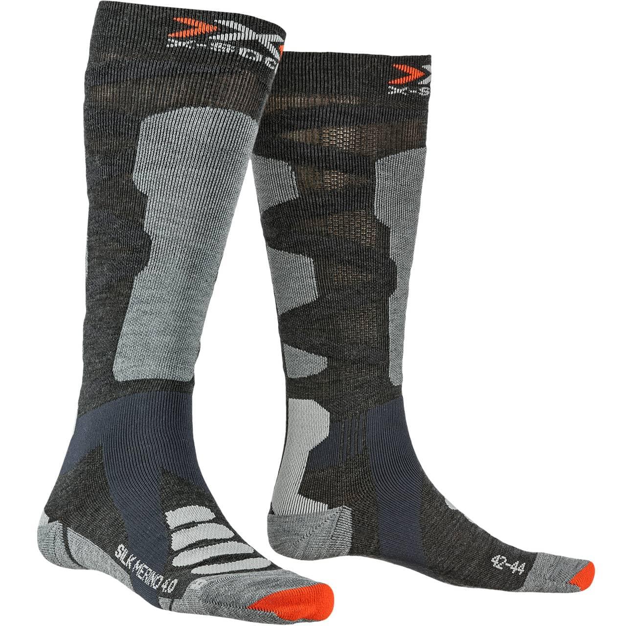 Calze Invernali da Sci Unisex Bambini Anthracite X-Socks Junior 4.0